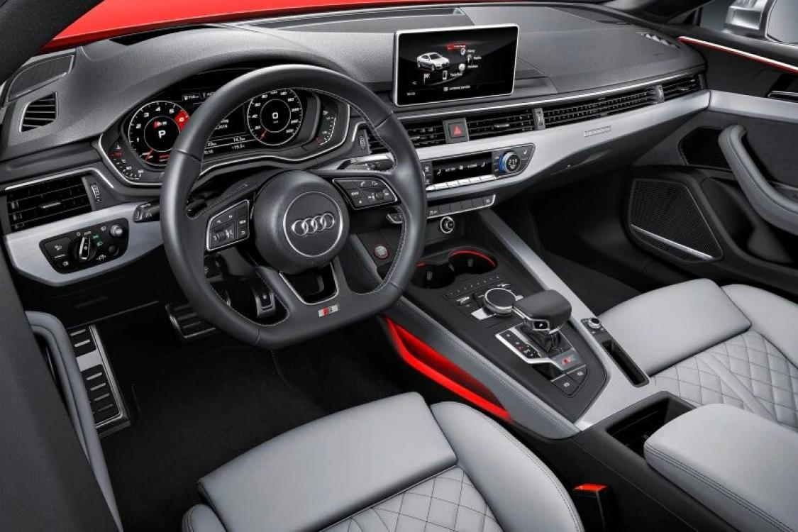 2018 Red /Black Leather Audi RS5 quattro Coupe (WUAPWAF50JA) with an 2.9L V6 DOHC 24V engine, 8A transmission, located at 6855 Stone Dr, Las Vegas, NV, 89110, (832) 726-6080, 36.171677, -115.022240 - Photo #9